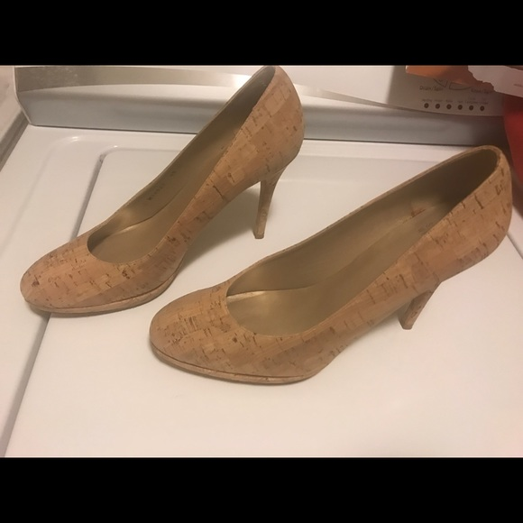 Stuart Weitzman Shoes - Gently worn Stuart Weitzman cork pumps, W 11